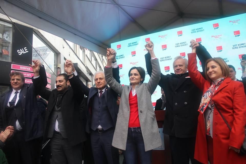 CHP Şişli Belediye Başkan adayı Muammer Keskin miting galerisi resim 1