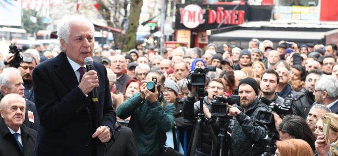 CHP Şişli Belediye Başkan adayı Muammer Keskin miting