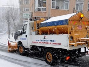 Şişli'den Geçen Sürücülerin Karla İmtihanı..
