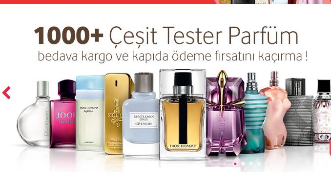 Orjinal Bayan Tester Parfümler