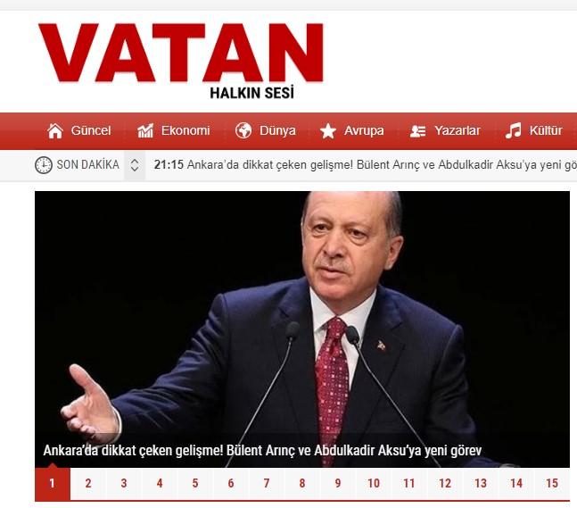 Güncel Bilgilerin Adresi Vatan Gazetesi