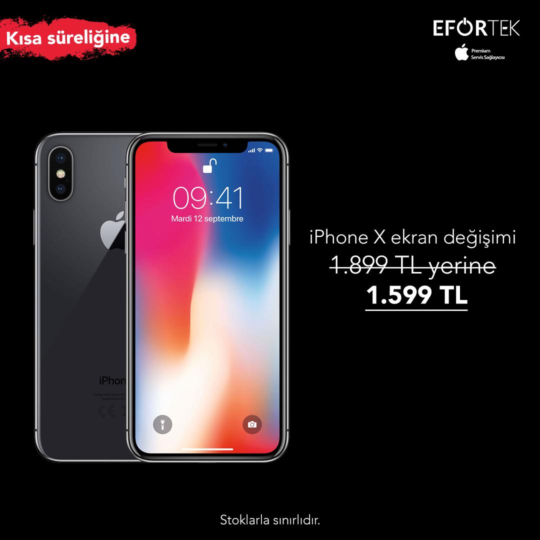 Efor Teknik, iPhone X Ekran Değişimi
