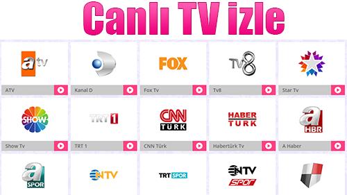 Donmadan Televizyon izleyebileceğiniz İnternet Sitesi Canlitv.Vin