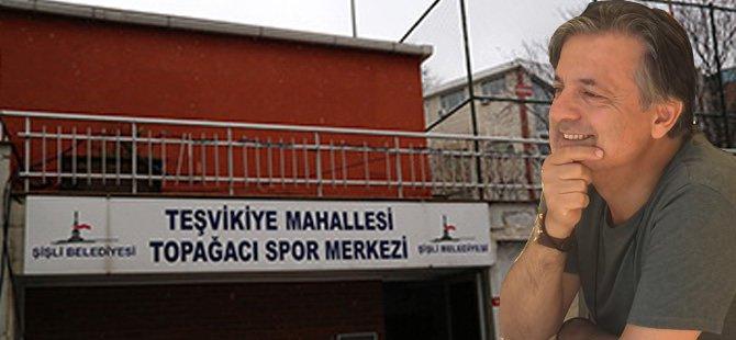 Şişli Belediyesi Başdanışmanı Gönen Orhan'dan bu sefer adrese teslim tenis kortu ve kafeterya!