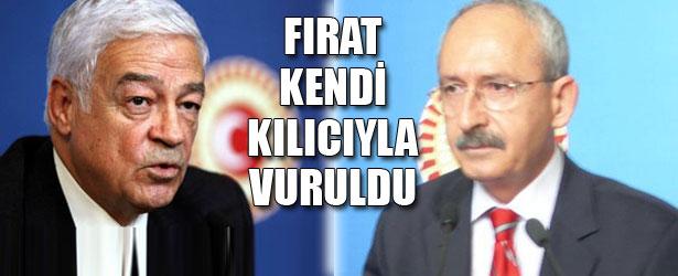 FIRAT KENDİ KILICIYLA VURULDU.