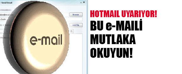 BU e-MAILİ MUTLAKA OKUYUN!