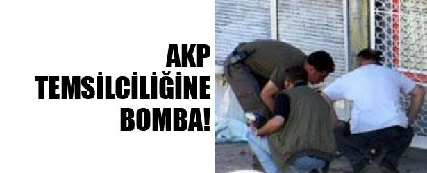 AKP TEMSİLCİLİĞİNE BOMBA