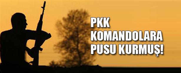PKK KOMANDOLARA PUSU KURMUŞ