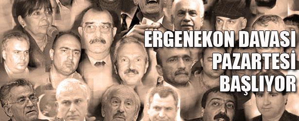 ERGENEKON DAVASI PAZARTESİ BAŞLIYOR