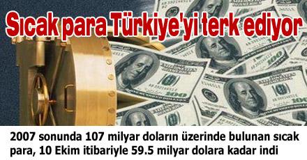 Sıcak para Türkiye'yi terk ediyor