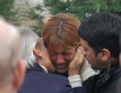 Babanın cenazesinde gözyaşı
