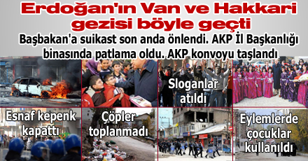 Erdoğan'ın Van ve Hakkari gezisi böyle geçti