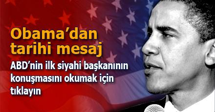 Barack Obama'nın ilk mesajı