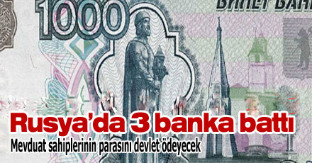 Rusya 3 bankanın lisansını iptal etti
