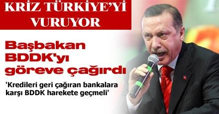 Başbakan BDDK'yı göreve çağırdı
