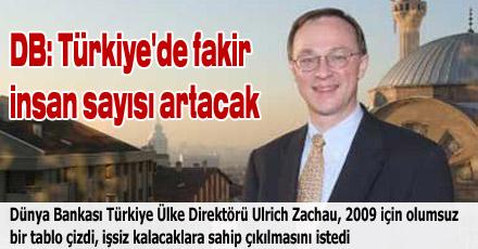 DB: Türkiye'de fakir insan sayısı artacak