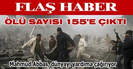 Ölü sayısı 155'e çıktı