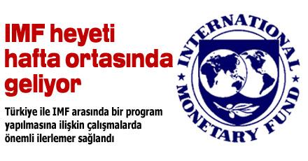 IMF heyeti hafta ortasında geliyor