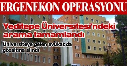 Yeditepe Üniversitesi'ndeki arama tamamlandı