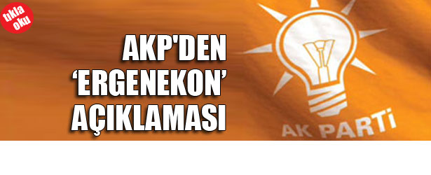 "AKP'DEN ""ERGENEKON"" AÇIKLAMASI"