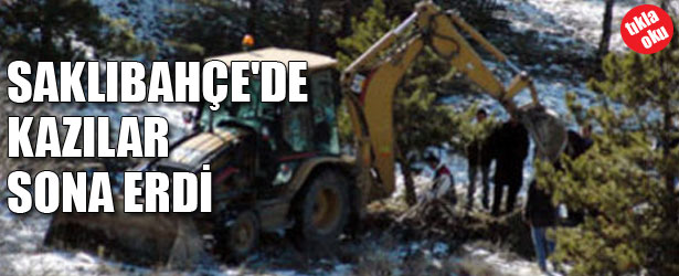 SAKLIBAHÇE'DE KAZILAR SONA ERDİ