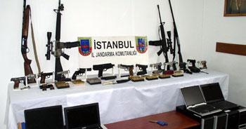İstanbul'da mini cephanelik çıktı