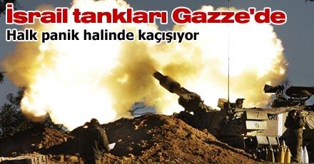 İsrail tankları Gazze'de