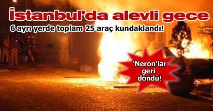 İstanbul'da alevli gece
