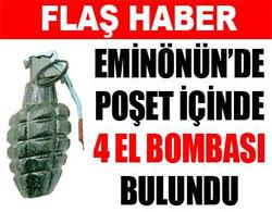 Eminönün'de el bombaları bulundu
