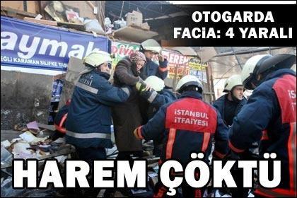 Harem Otogarı'nda çatı çöktü: 4 yaralı