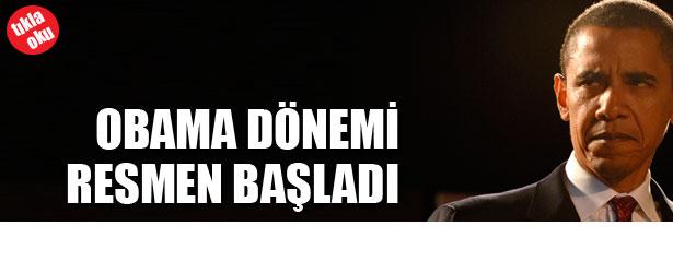 OBAMA DÖNEMİ RESMEN BAŞLADI