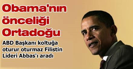 Obama'nın önceliği Ortadoğu