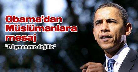 Obama'dan Müslümanlara mesaj