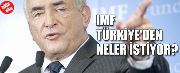 IMF TÜRKİYE'DEN NELER İSTİYOR?