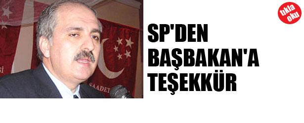SP'DEN BAŞBAKAN'A TEŞEKKÜR