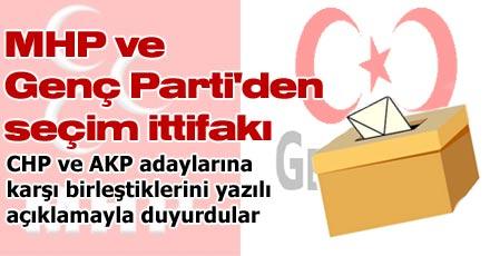MHP ve Genç Parti'den seçim ittifakı
