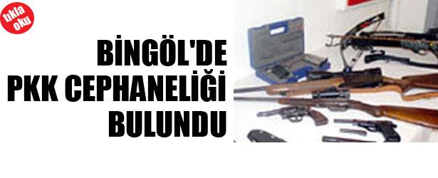 BİNGÖL'DE PKK CEPHANELİĞİ BULUNDU