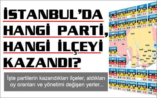 İşte İstanbul'un yeni yerel yönetim haritası