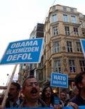 İstanbul'da NATO protestosu