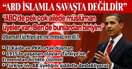 Obama'dan Türkiye'ye mesajlar