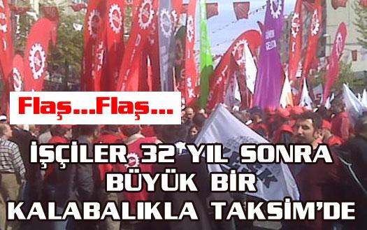 DİSK ve KESK Taksim'e girdi