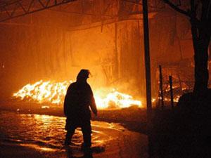 Büyükçekmece'de Fabrika'da yangın