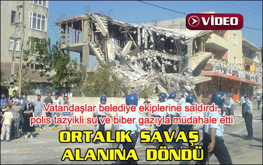 İstanbul'da olaylı yıkım