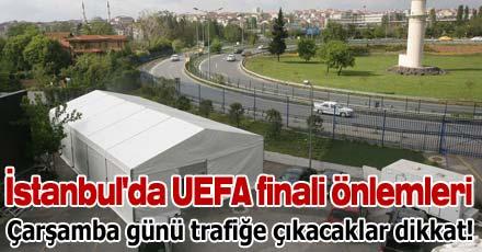 İstanbul'da UEFA finali önlemleri