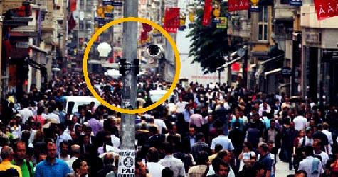 İstiklal Caddesi'ne 'tepegözle' kontrol