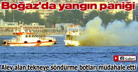 Boğaz'da yangın paniği