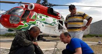 Milas'ta helikopter düştü