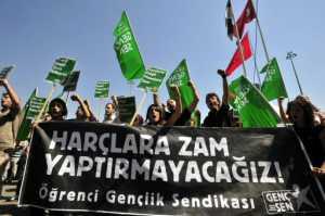 Öğrencilerden protesto