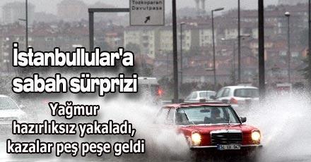 İstanbullular'a sabah sürprizi