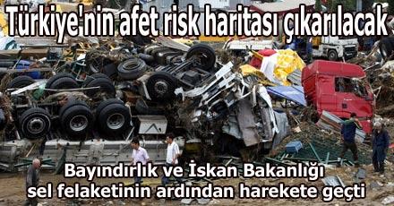 Türkiye'nin afet risk haritası çıkarılacak